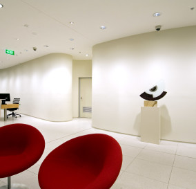 ADMIN RECEPTION AREA LIGHTING - CORPORATE TECHNOLOGY FACILITY SYDNEY