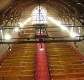 NEW LUMINAIRES TO CHURCH NAVE - LOWER NORTH SHORE SYDNEY