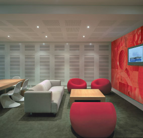 TYPICAL BREAK-OUT AREA LIGHTING - CORPORATE TECHNOLOGY FACILITY SYDNEY