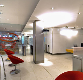 MAIN ENTRY AREA LIGHTING - CORPORATE TECHNOLOGY FACILITY SYDNEY