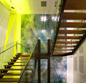 CENTRAL STAIR LIGHTING - CORPORATE TECHNOLOGY FACILITY SYDNEY